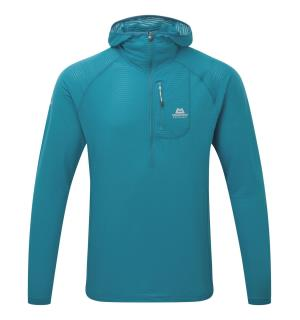 Solar Eclipse Hooded Zip Tee Tasman Blue M