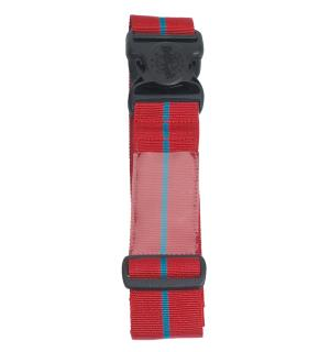 ID Luggage Strap, cherry red