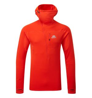 Eclipse Hooded Zip T Cardinal Orange M