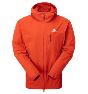 Echo Hooded Jacket Cardinal Orange  M