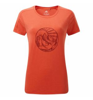 Headpoint Rising Sun Wmns Tee Pop Red 10