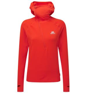 Eclipse Hooded Zip T Wmns Cardinal Orange 14