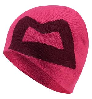 Branded Knitted Wmns Beanie VPink/Cranb
