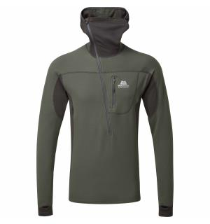 Eclipse Hooded Zip T Anvil/Obsidian M